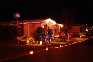 Lights of Christmas at night