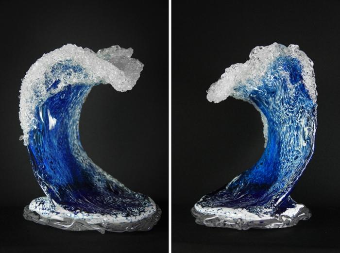 Ocean Waves Glass Sculptures 1
