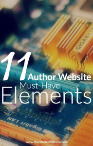 Picture courtesy of: http://www.yourwriterplatform.com/author-website-elements/
