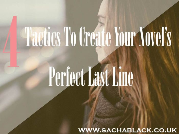 4 Tactics to Your Perfect Last line #YA