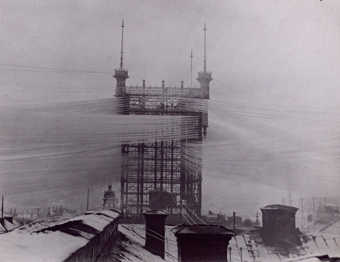 A 1890's telephone tower